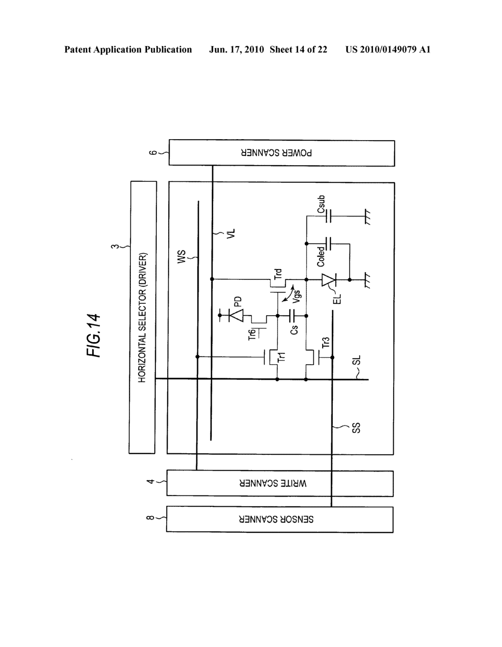 Display device, method of driving display device, and electronic apparatus - diagram, schematic, and image 15