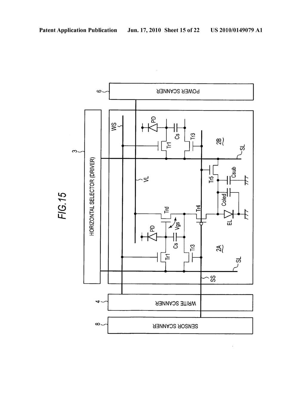 Display device, method of driving display device, and electronic apparatus - diagram, schematic, and image 16