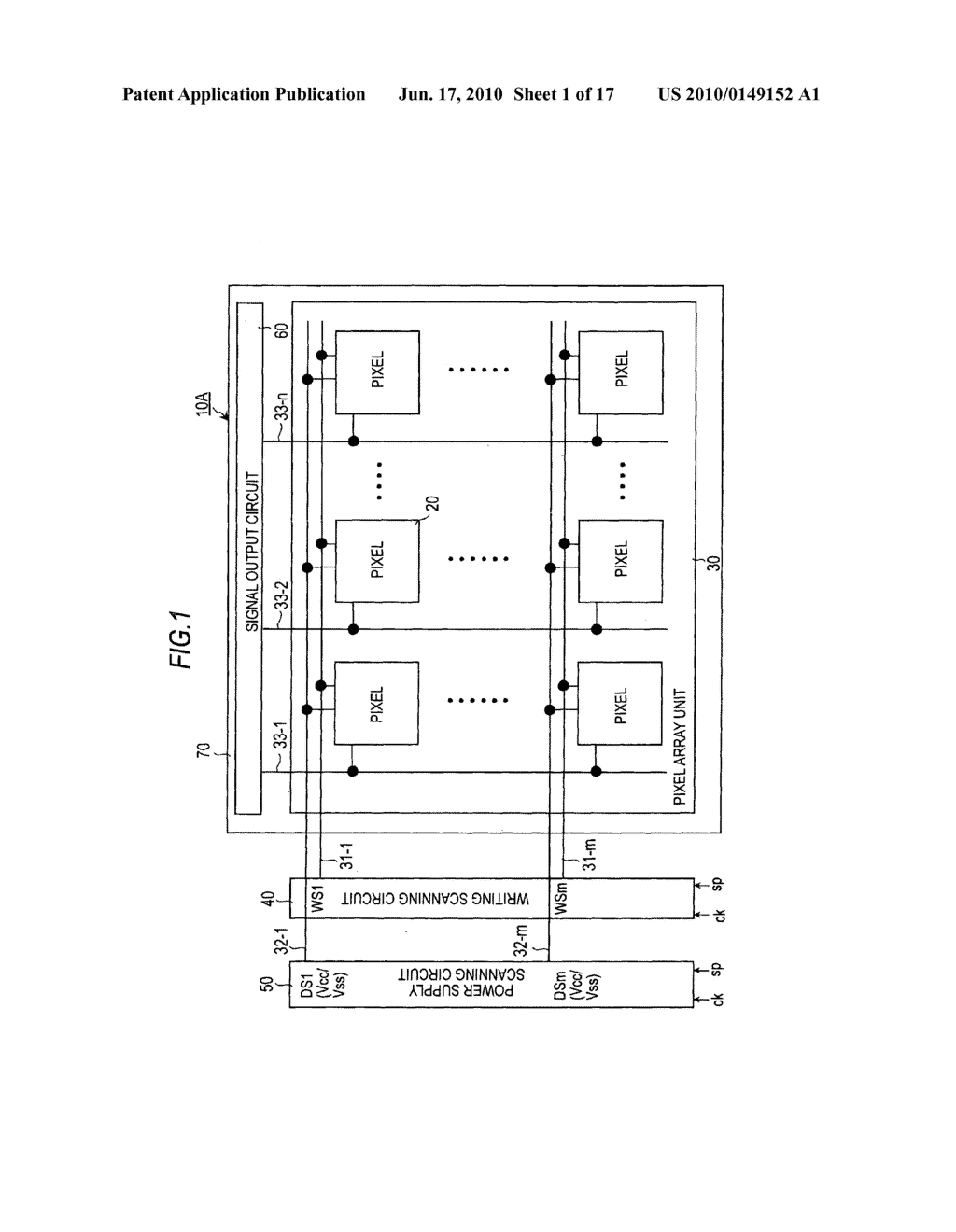 Display device, driving method for the display device, and electronic apparatus - diagram, schematic, and image 02