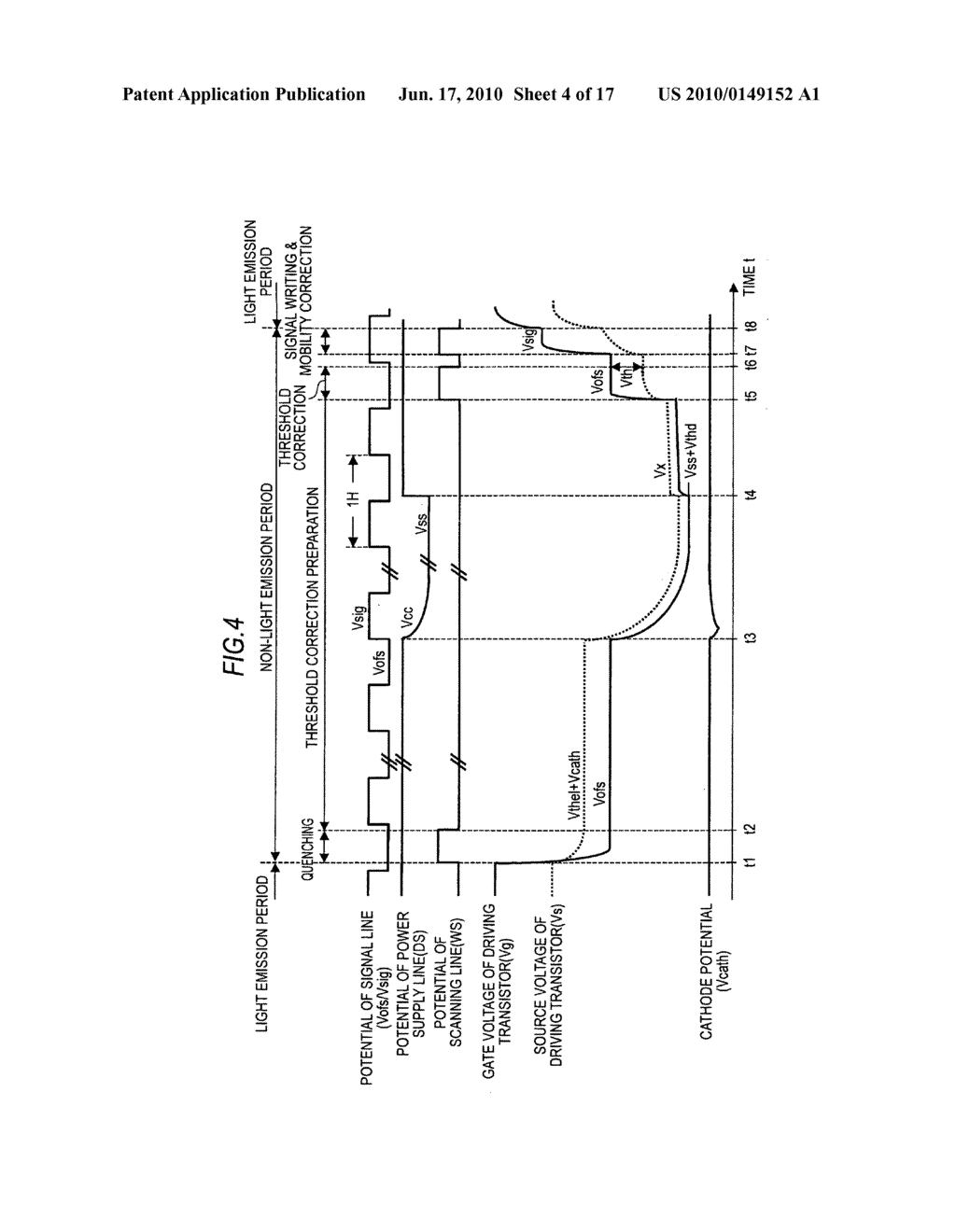 Display device, driving method for the display device, and electronic apparatus - diagram, schematic, and image 05