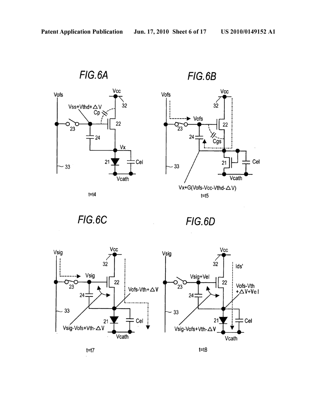 Display device, driving method for the display device, and electronic apparatus - diagram, schematic, and image 07