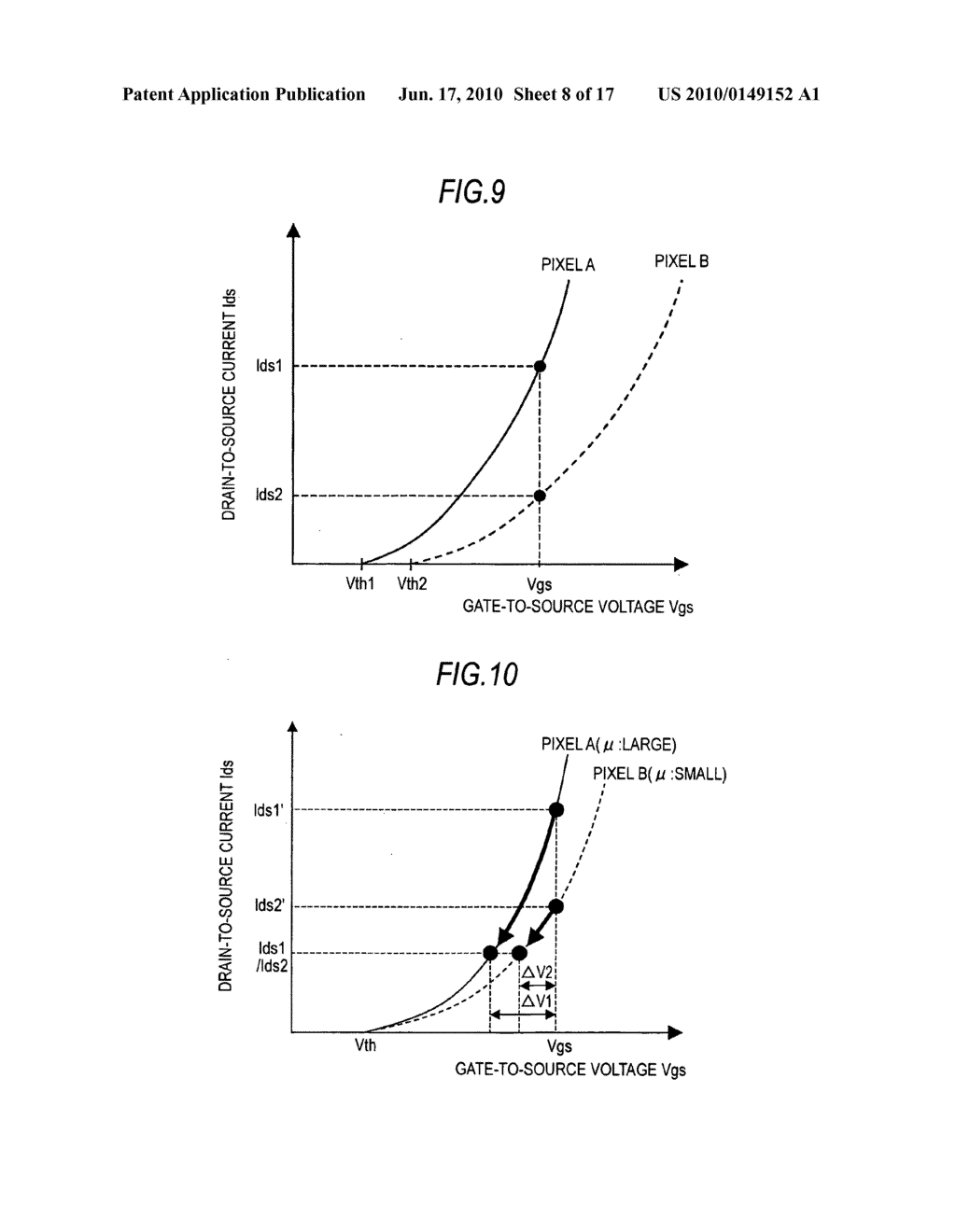 Display device, driving method for the display device, and electronic apparatus - diagram, schematic, and image 09