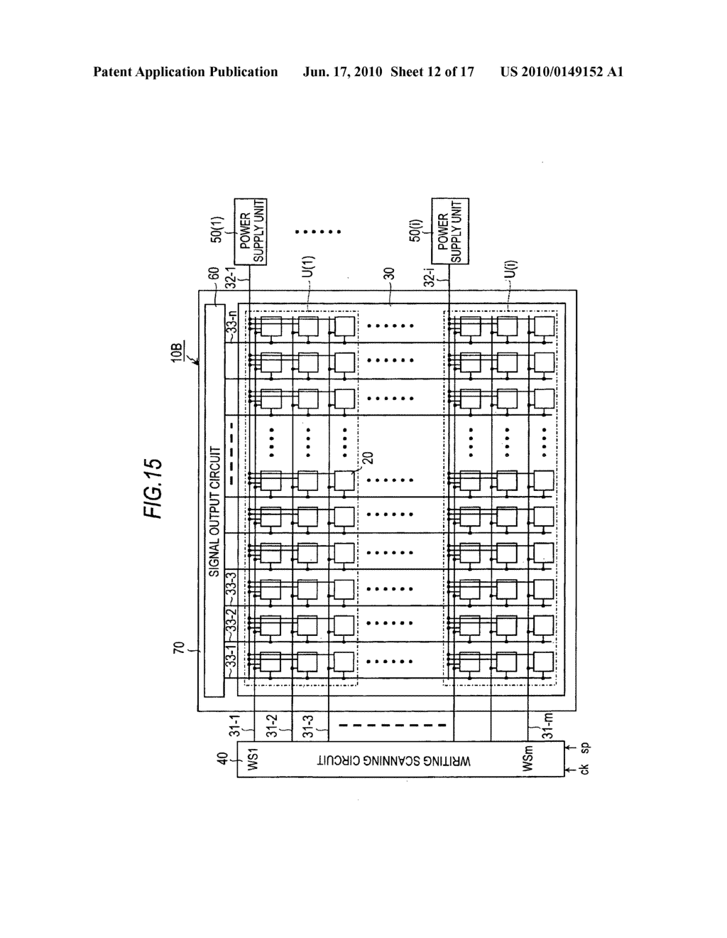 Display device, driving method for the display device, and electronic apparatus - diagram, schematic, and image 13