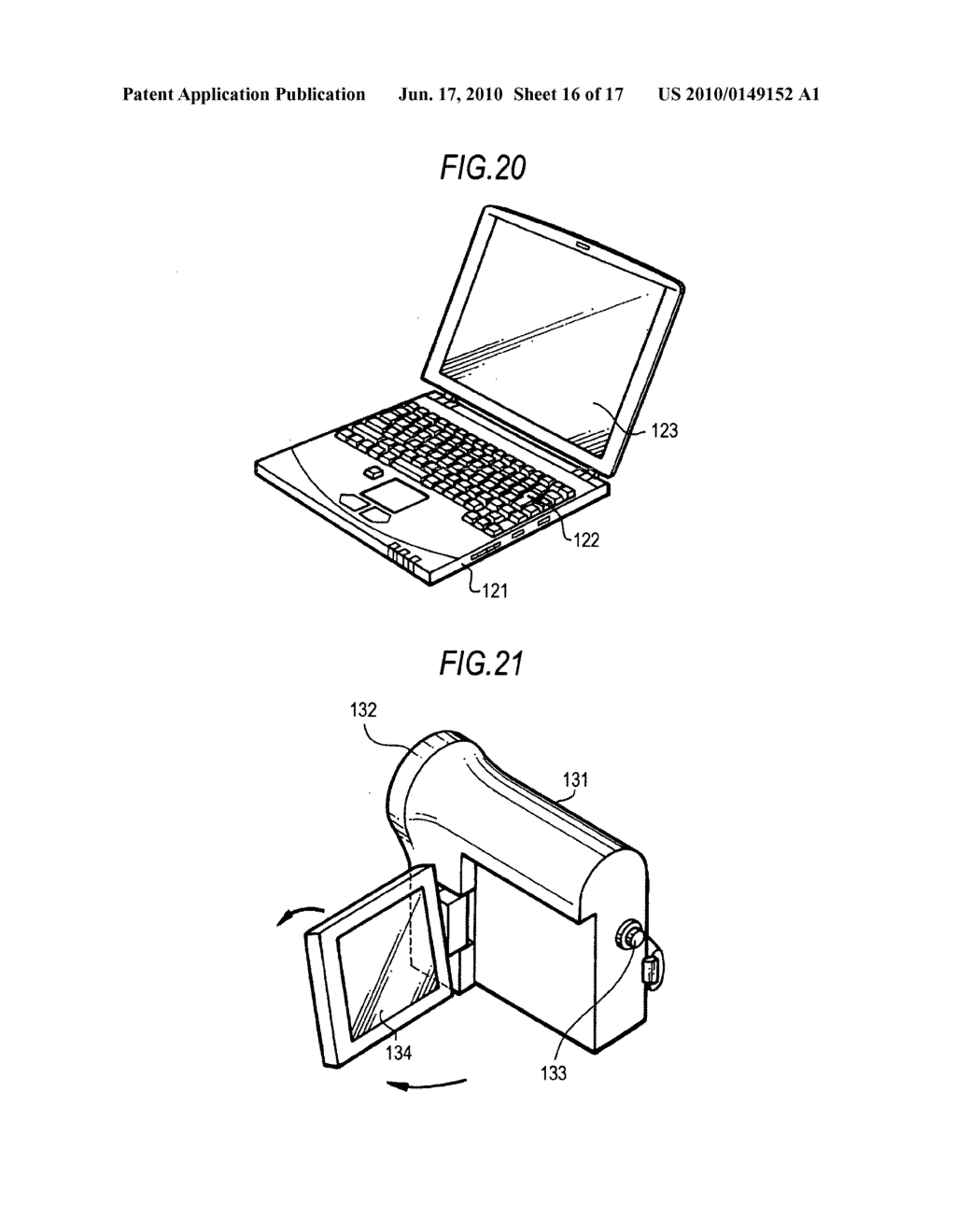 Display device, driving method for the display device, and electronic apparatus - diagram, schematic, and image 17