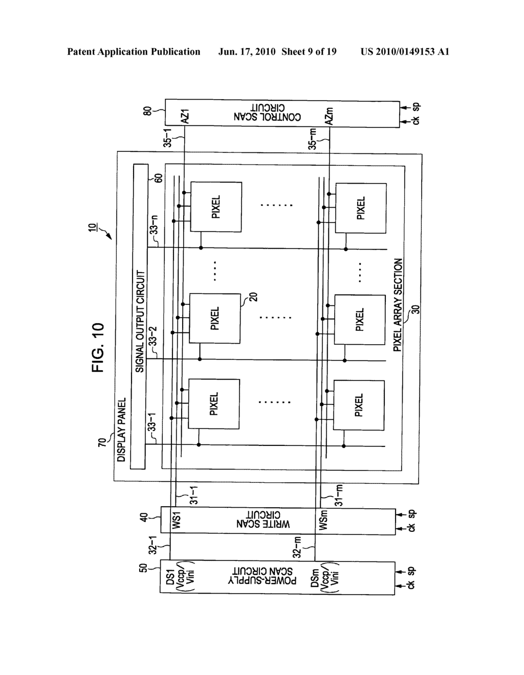 Display device, display device drive method, and electronic apparatus - diagram, schematic, and image 10