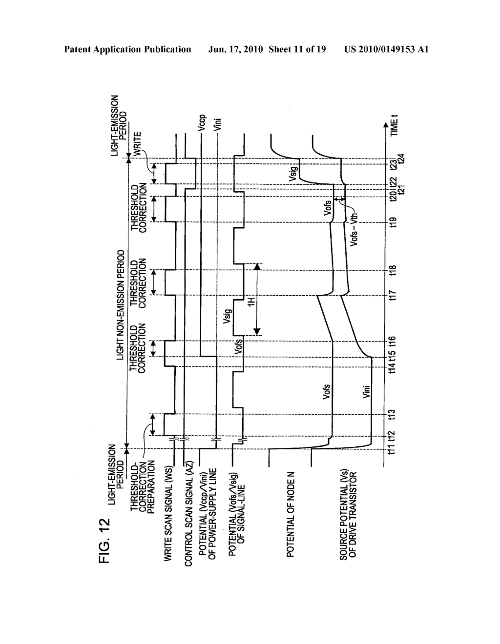Display device, display device drive method, and electronic apparatus - diagram, schematic, and image 12