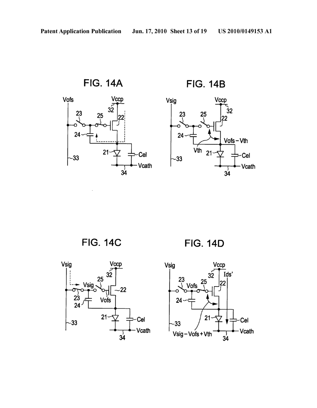 Display device, display device drive method, and electronic apparatus - diagram, schematic, and image 14