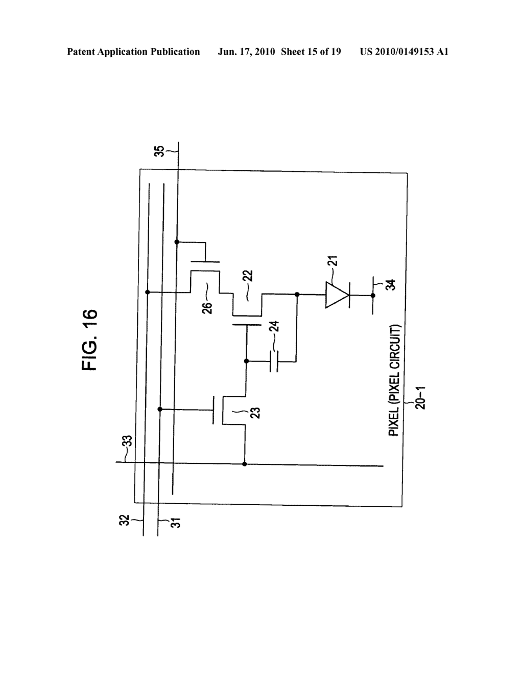 Display device, display device drive method, and electronic apparatus - diagram, schematic, and image 16