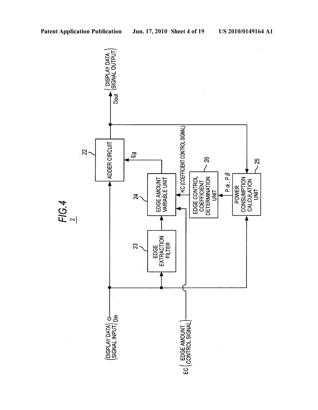 Display device, display data processing device, and display data processing method - diagram, schematic, and image 05