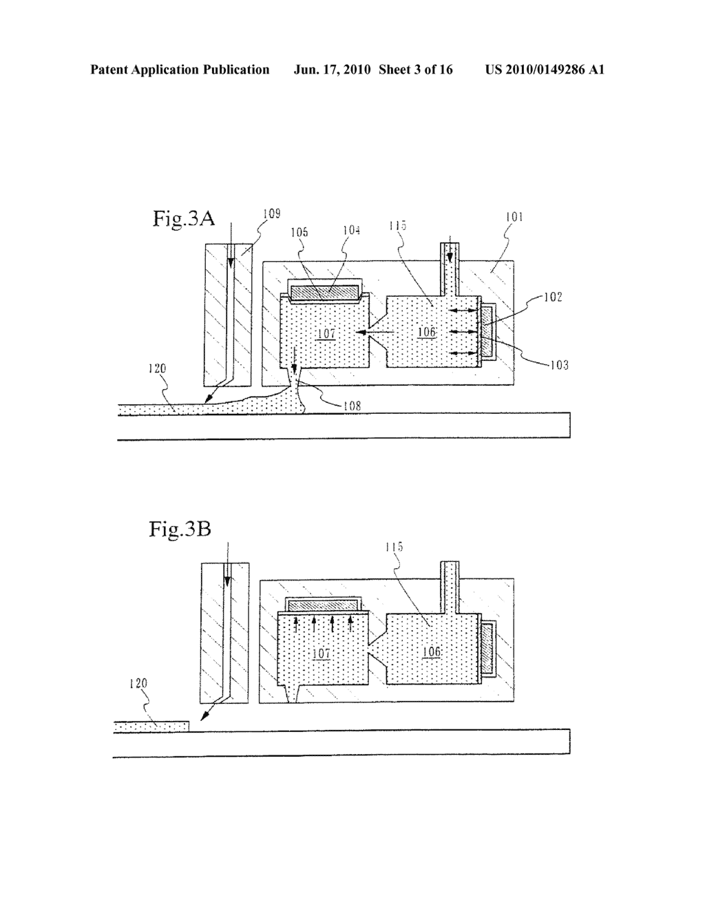 PRINTING DEVICE AND METHOD OF MANUFACTURING A LIGHT EMITTING DEVICE - diagram, schematic, and image 04