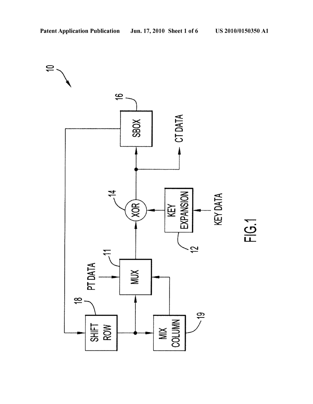 Method and Apparatus for Key Expansion to Encode Data - diagram, schematic, and image 02