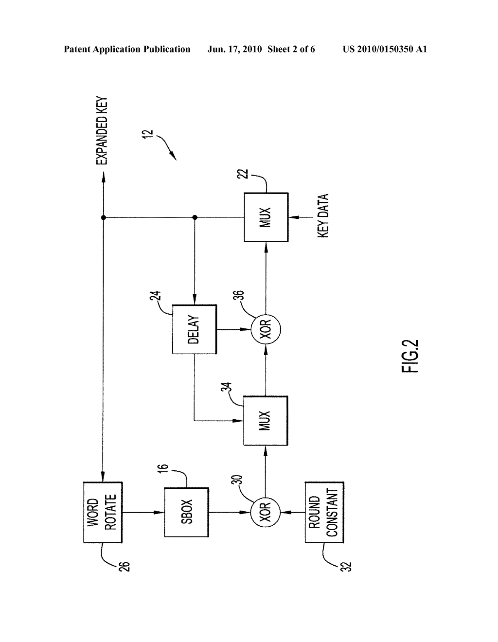 Method and Apparatus for Key Expansion to Encode Data - diagram, schematic, and image 03
