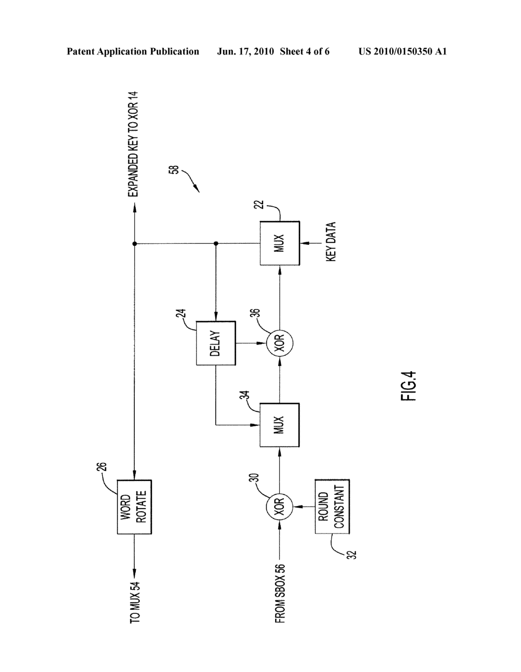Method and Apparatus for Key Expansion to Encode Data - diagram, schematic, and image 05