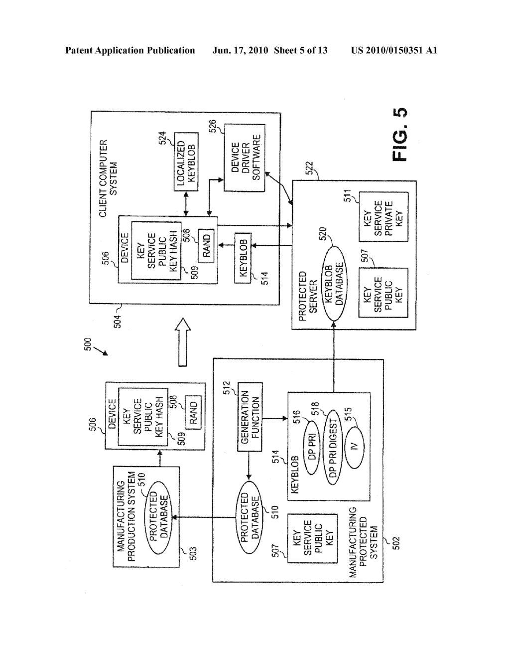Method of Delivering Direct Proof Private Keys to Devices Using an On-Line Service - diagram, schematic, and image 06