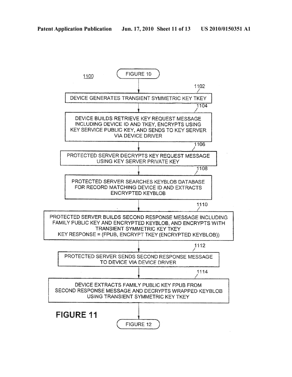 Method of Delivering Direct Proof Private Keys to Devices Using an On-Line Service - diagram, schematic, and image 12