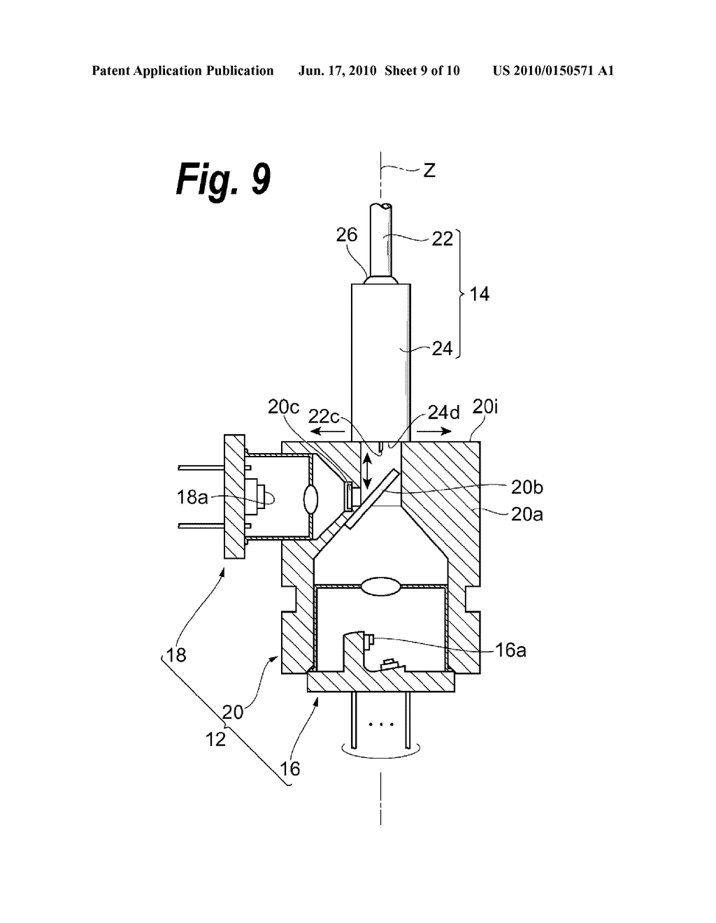 OPTICAL MODULE WITH EASILY PRODUCED FERRULE ASSEMBLY AND METHOD FOR PRODUCING THE SAME - diagram, schematic, and image 10