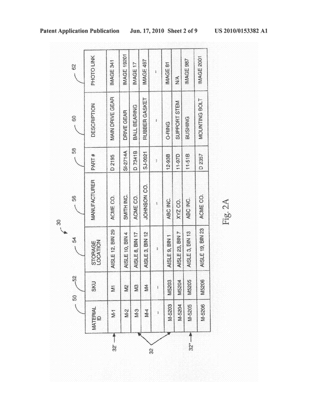 SYSTEMS AND METHODS FOR THE MATCHING OF MATERIALS DATA TO PARTS DATA - diagram, schematic, and image 03
