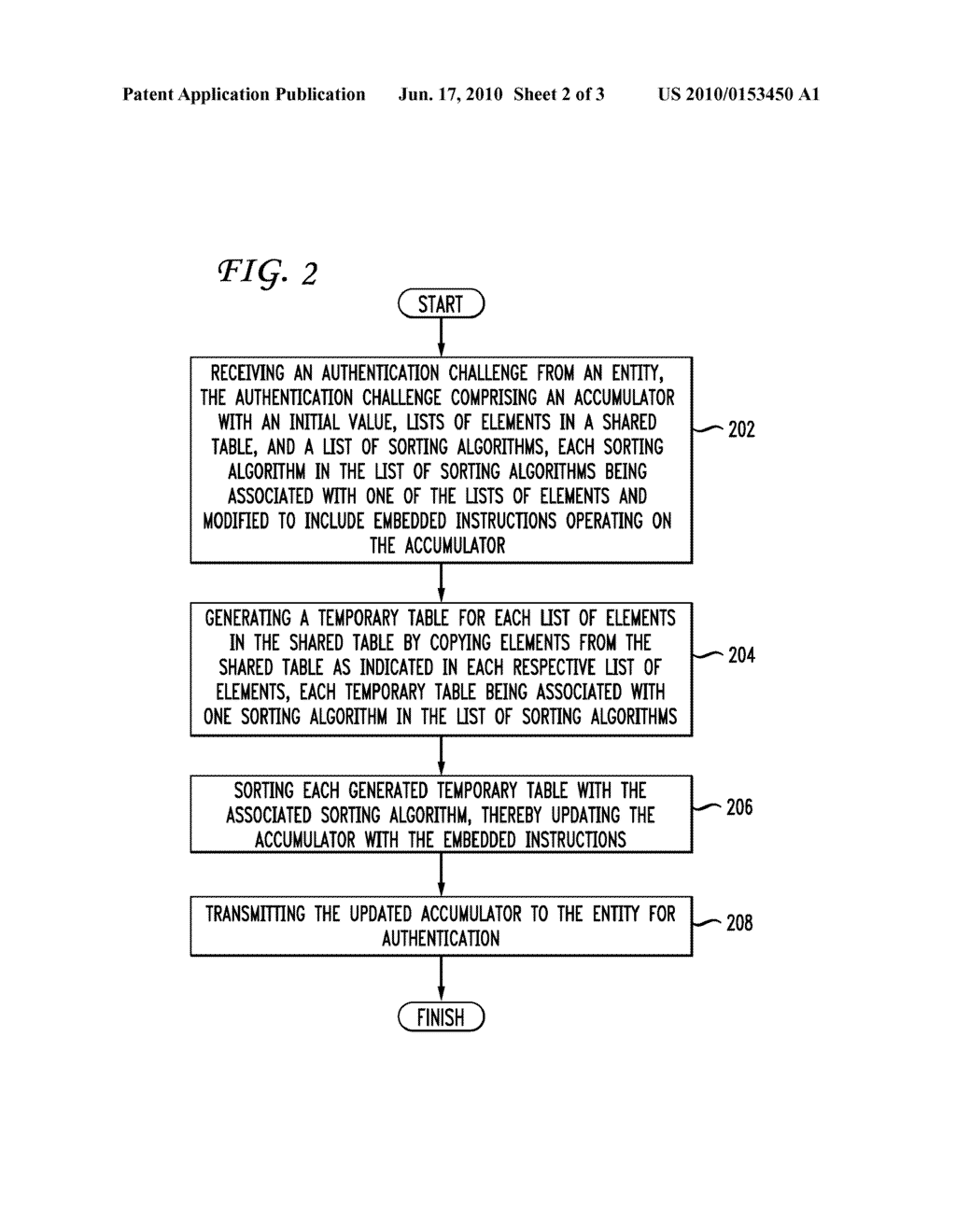 SYSTEM AND METHOD FOR AUTHENTICATION USING A SHARED TABLE AND SORTING EXPONENTIATION - diagram, schematic, and image 03