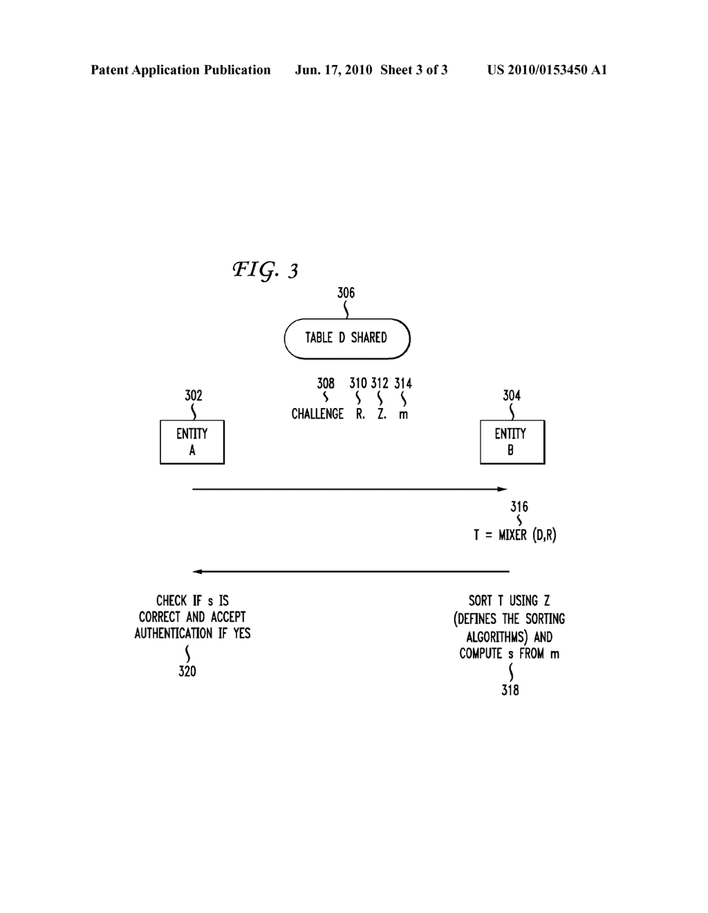 SYSTEM AND METHOD FOR AUTHENTICATION USING A SHARED TABLE AND SORTING EXPONENTIATION - diagram, schematic, and image 04