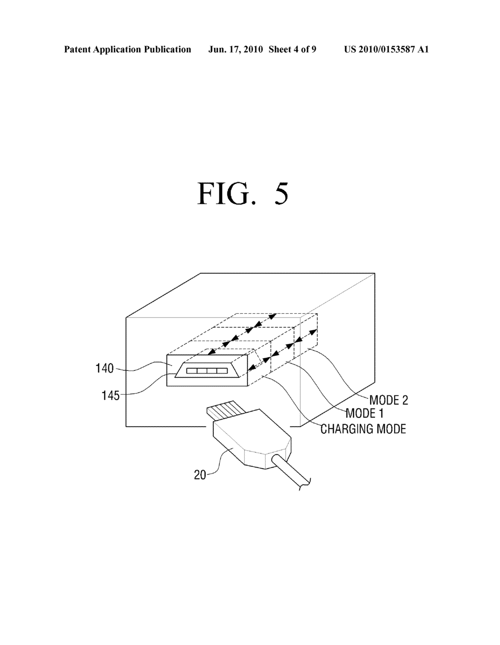 METHOD OF SETTING MODE OF EXTERNAL DEVICE OPERABLE IN PLURALITY OF MODES AND COMMUNICATION DEVICE TO USE THE SAME - diagram, schematic, and image 05