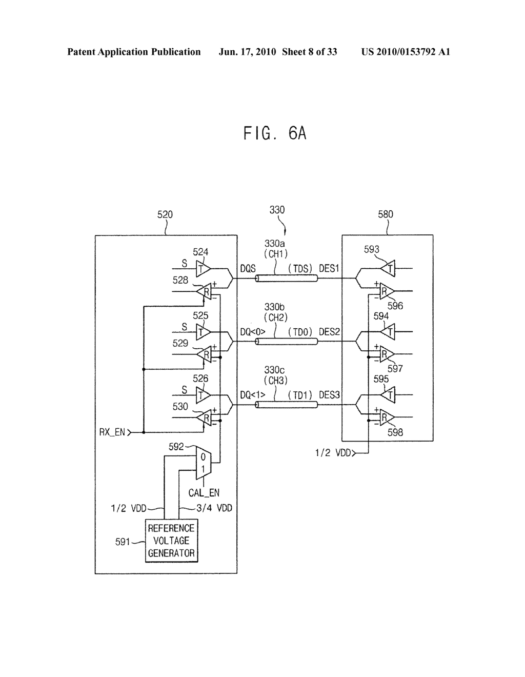Circuit and method for correcting skew in a plurality of communication channels for communicating with a memory device, memory controller, system and method using the same, and memory test system and method using the same - diagram, schematic, and image 09