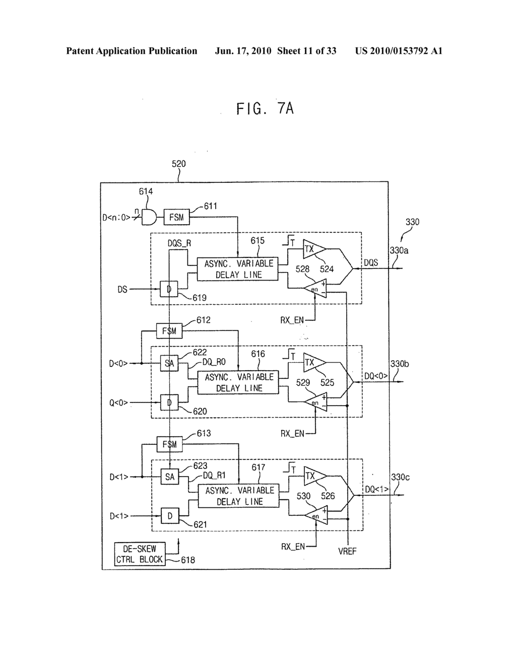Circuit and method for correcting skew in a plurality of communication channels for communicating with a memory device, memory controller, system and method using the same, and memory test system and method using the same - diagram, schematic, and image 12