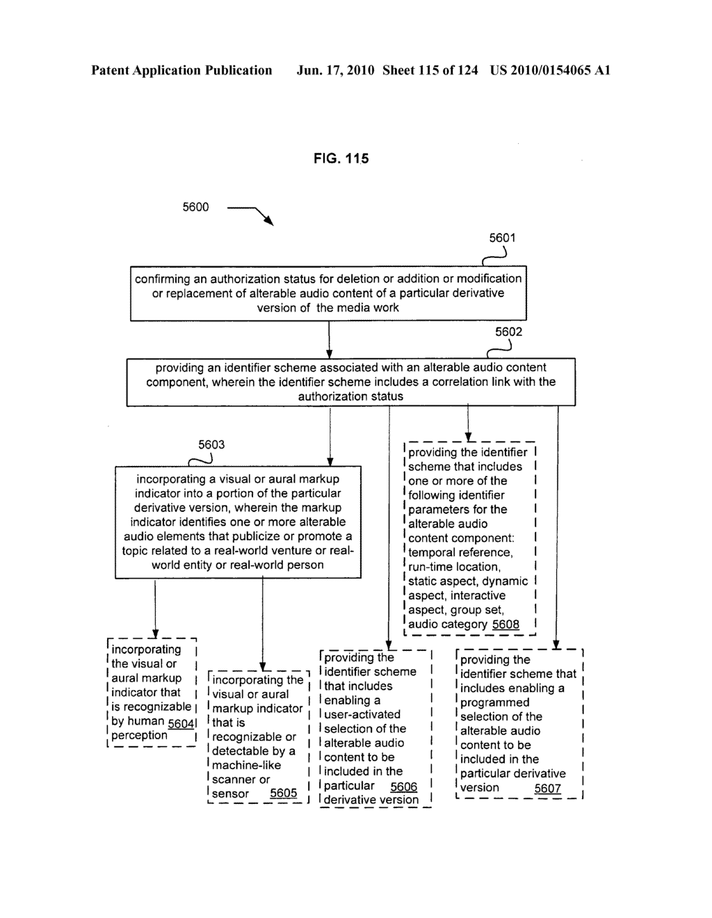 Media markup for user-activated content alteration - diagram, schematic, and image 117