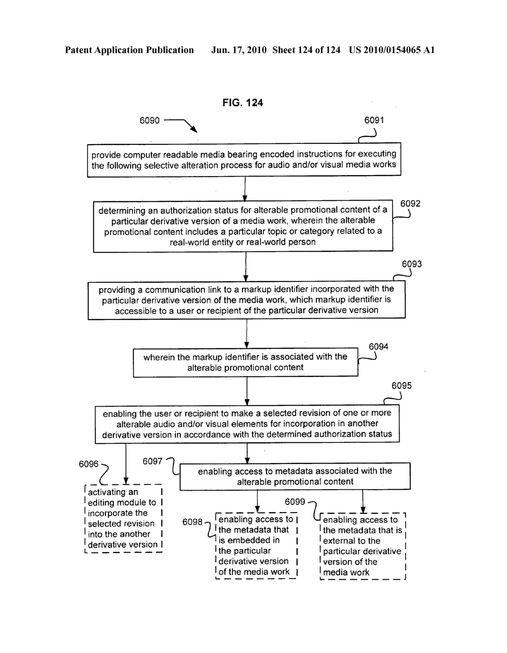 Media markup for user-activated content alteration - diagram, schematic, and image 126