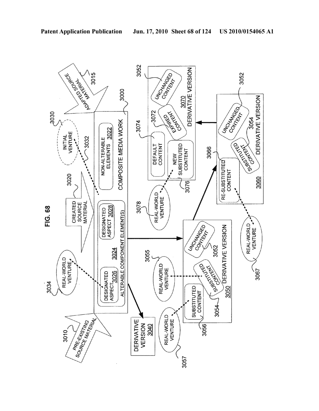 Media markup for user-activated content alteration - diagram, schematic, and image 70