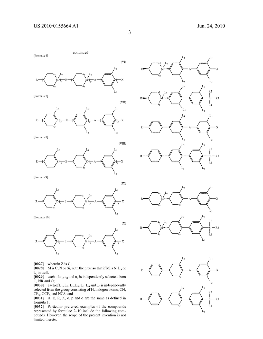 LIQUID CRYSTAL COMPOSITION COMPRISING NOVEL SILICON CONTAINING COMPOUNDS AND LIQUID CRYSTAL DISPLAY DEVICE USING THE SAME - diagram, schematic, and image 04