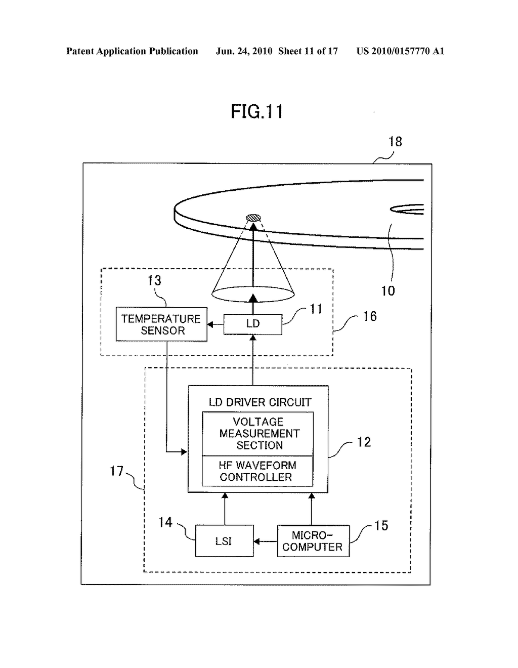 OPTICAL DISC DRIVE AND OPTICAL INFORMATION READ METHOD - diagram, schematic, and image 12
