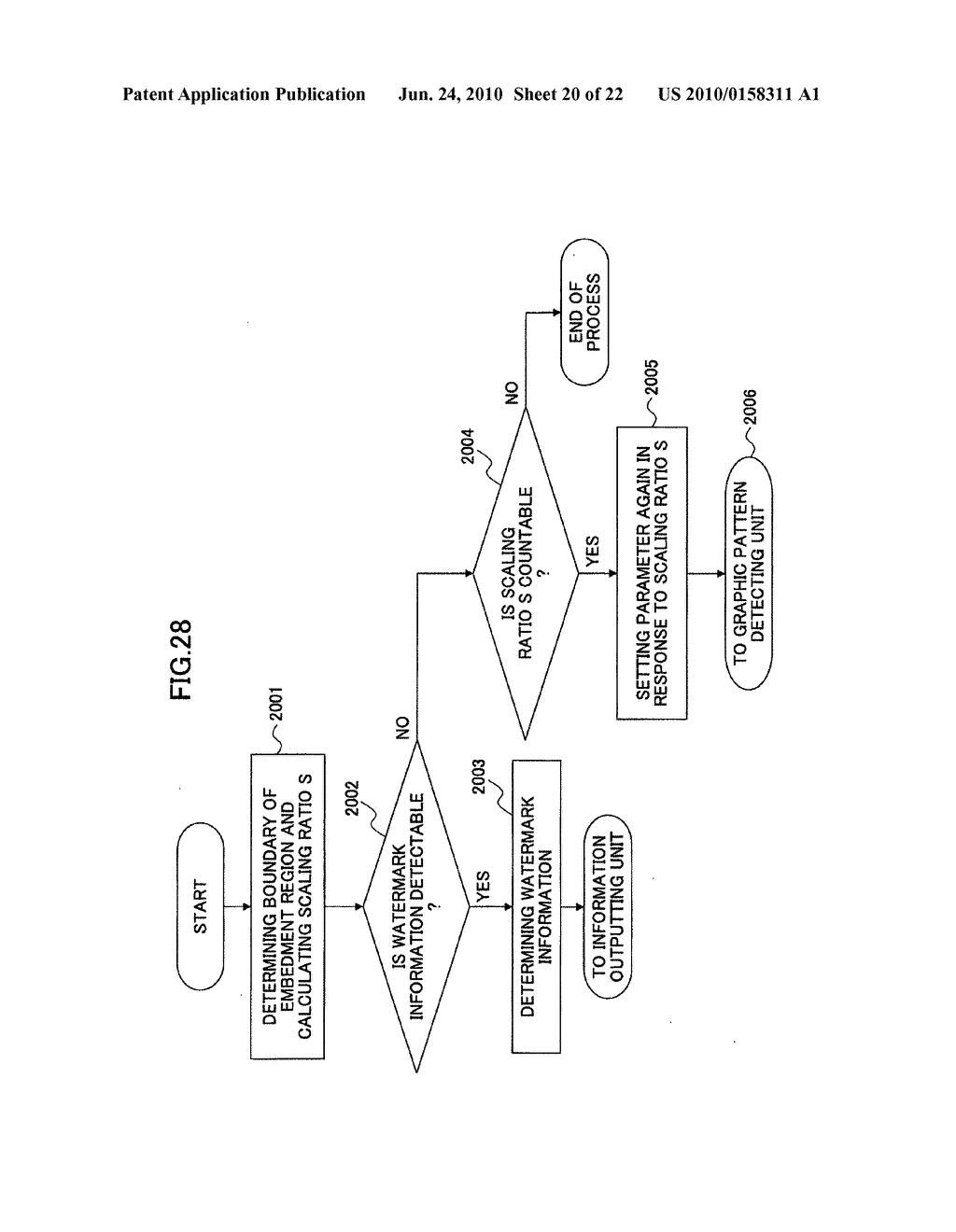 Electronic watermark embedding device, electronic watermark detecting device, and programs therefor - diagram, schematic, and image 21