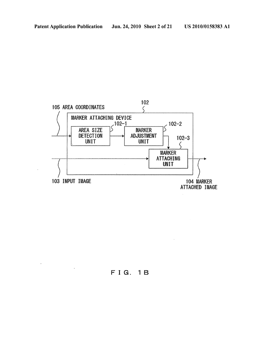 IMAGE MARKER ATTACHING APPARATUS AND METHOD - diagram, schematic, and image 03