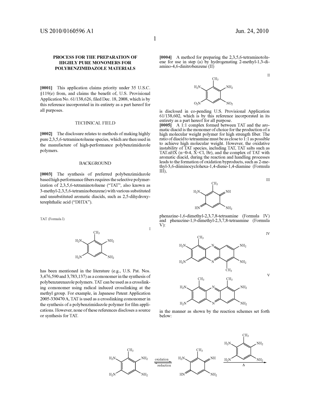 PROCESS FOR THE PREPARATION OF HIGHLY PURE MONOMERS FOR POLYBENZIMIDAZOLE MATERIALS - diagram, schematic, and image 05