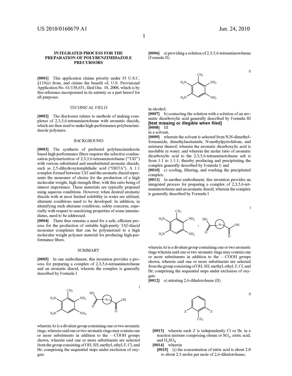 INTEGRATED PROCESS FOR THE PREPARATION OF POLYBENZIMIDAZOLE PRECURSORS - diagram, schematic, and image 04