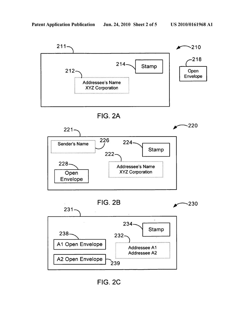 Delivering content in digital postal envelope - diagram, schematic ...