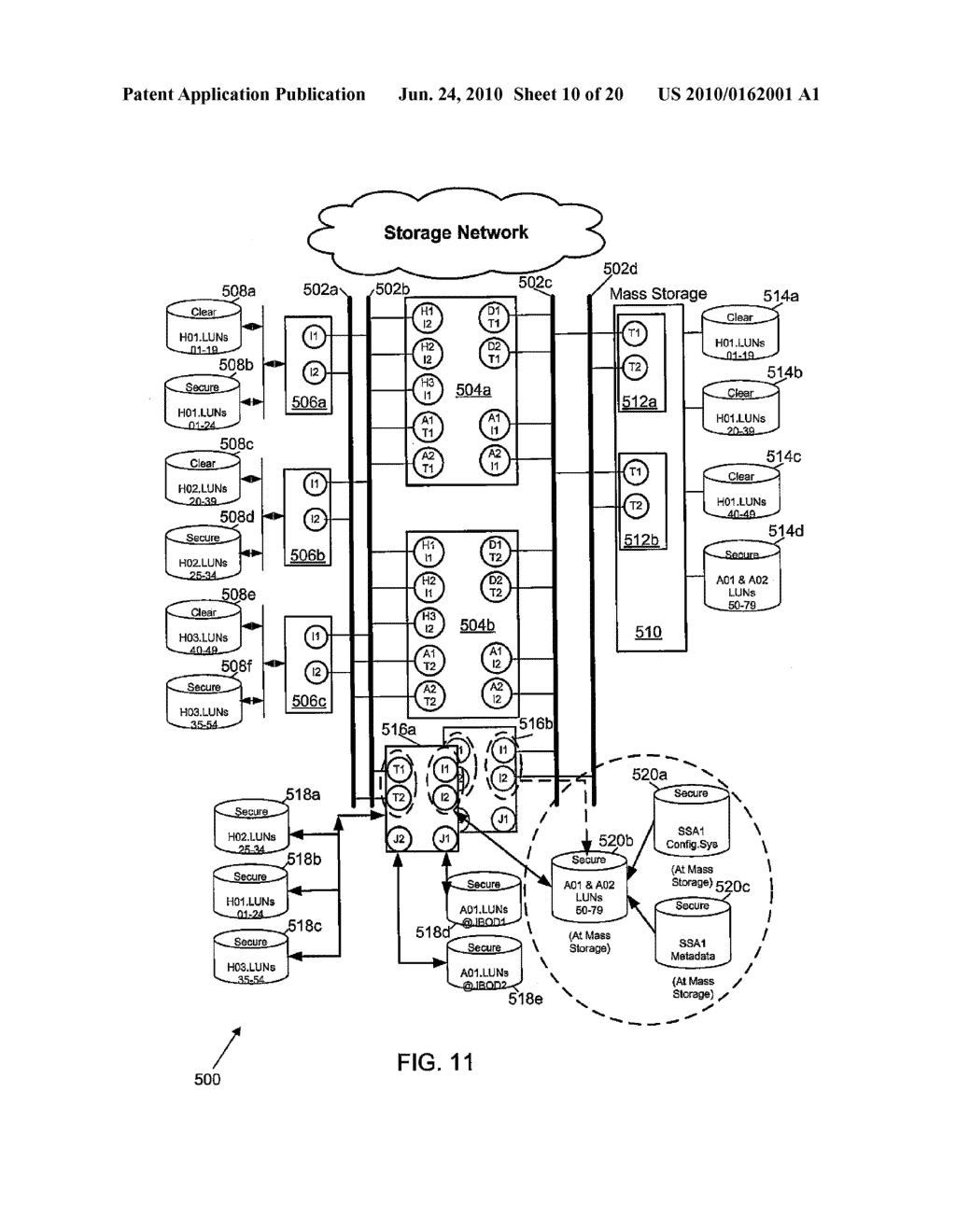 SECURE NETWORK ATTACHED STORAGE DEVICE USING CRYPTOGRAPHIC SETTINGS - diagram, schematic, and image 11
