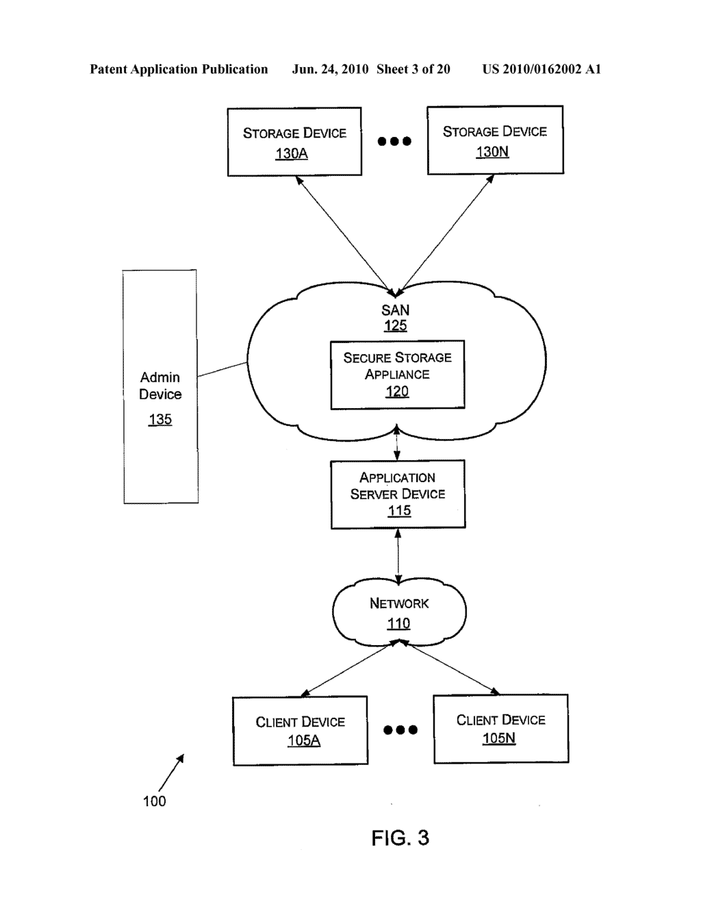 VIRTUAL TAPE BACKUP ARRANGEMENT USING CRYPTOGRAPHICALLY SPLIT STORAGE - diagram, schematic, and image 04