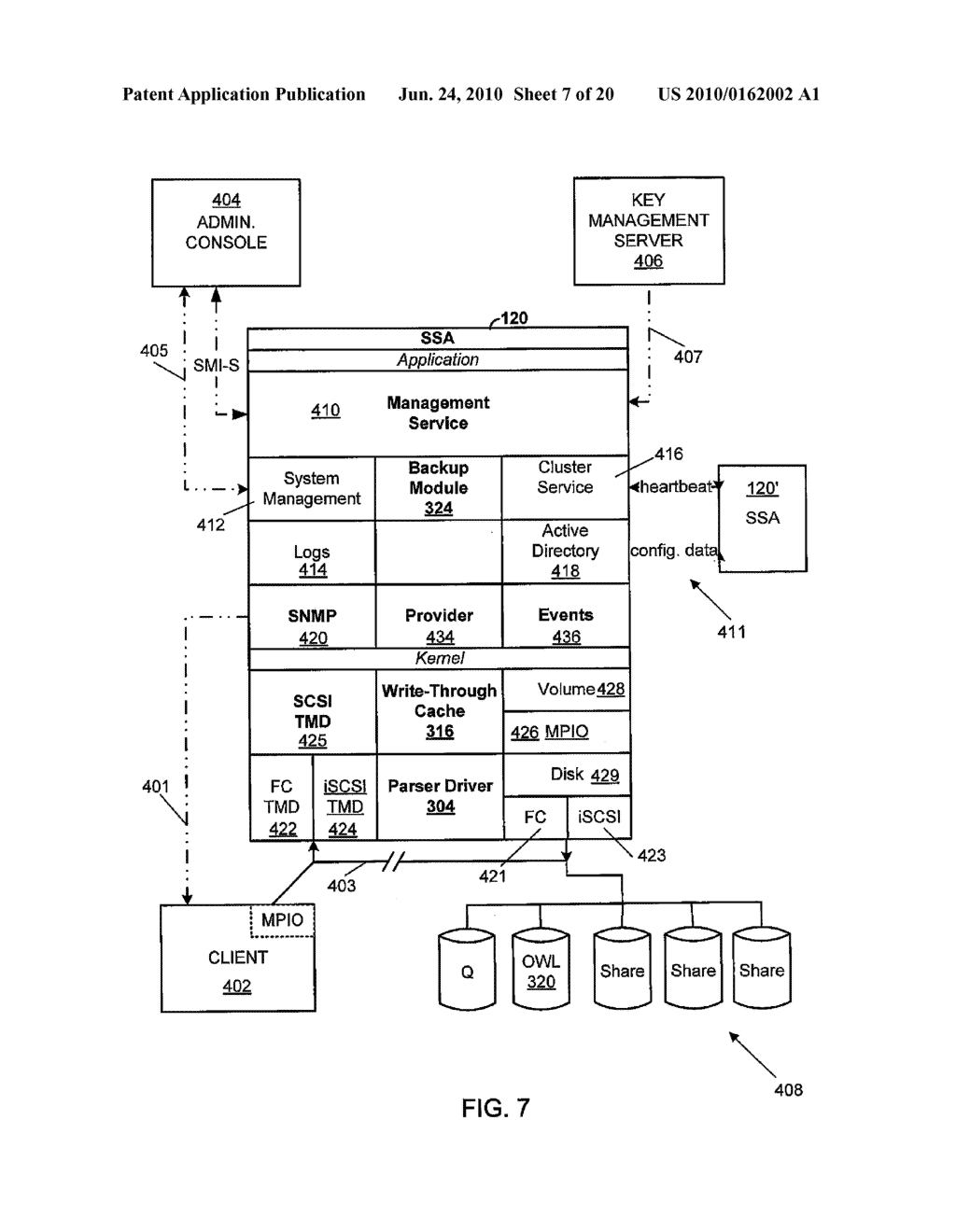 VIRTUAL TAPE BACKUP ARRANGEMENT USING CRYPTOGRAPHICALLY SPLIT STORAGE - diagram, schematic, and image 08