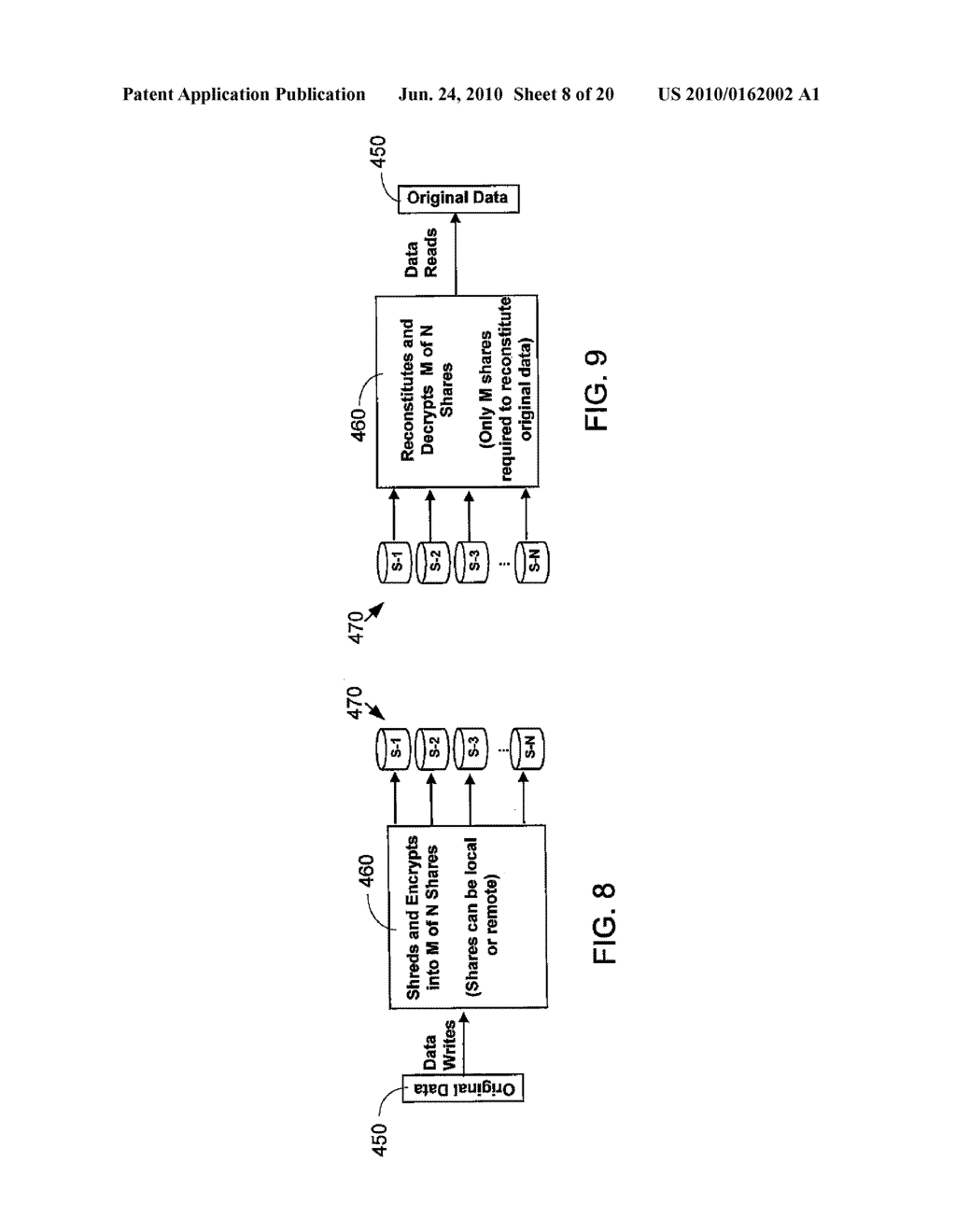 VIRTUAL TAPE BACKUP ARRANGEMENT USING CRYPTOGRAPHICALLY SPLIT STORAGE - diagram, schematic, and image 09