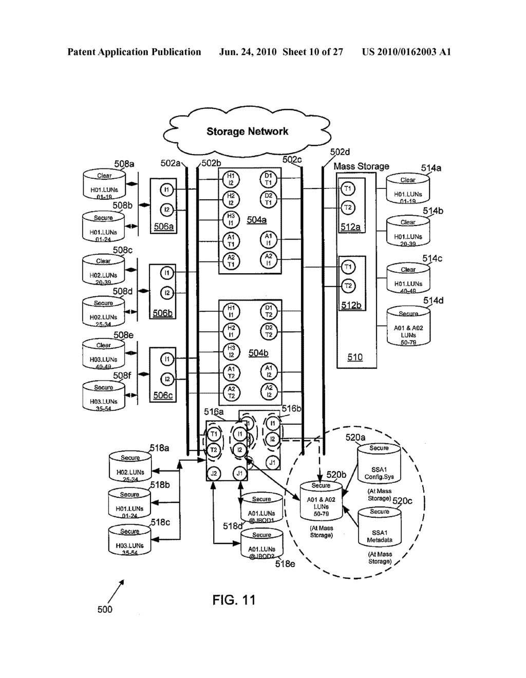 RETRIEVAL OF CRYPTOGRAPHICALLY-SPLIT DATA BLOCKS FROM FASTEST-RESPONDING STORAGE DEVICES - diagram, schematic, and image 11