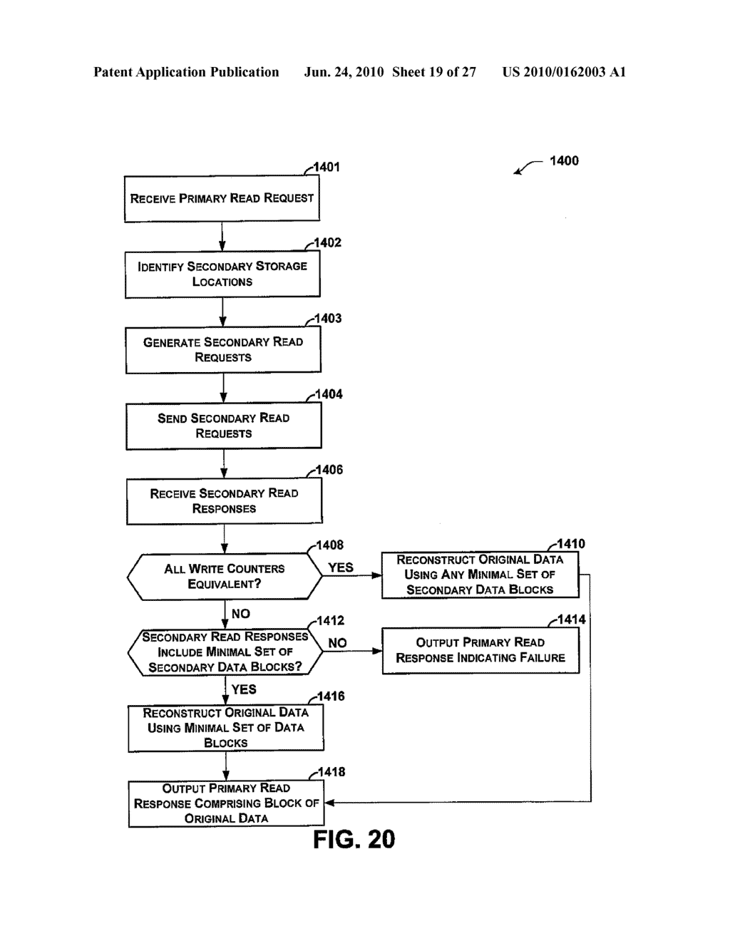 RETRIEVAL OF CRYPTOGRAPHICALLY-SPLIT DATA BLOCKS FROM FASTEST-RESPONDING STORAGE DEVICES - diagram, schematic, and image 20