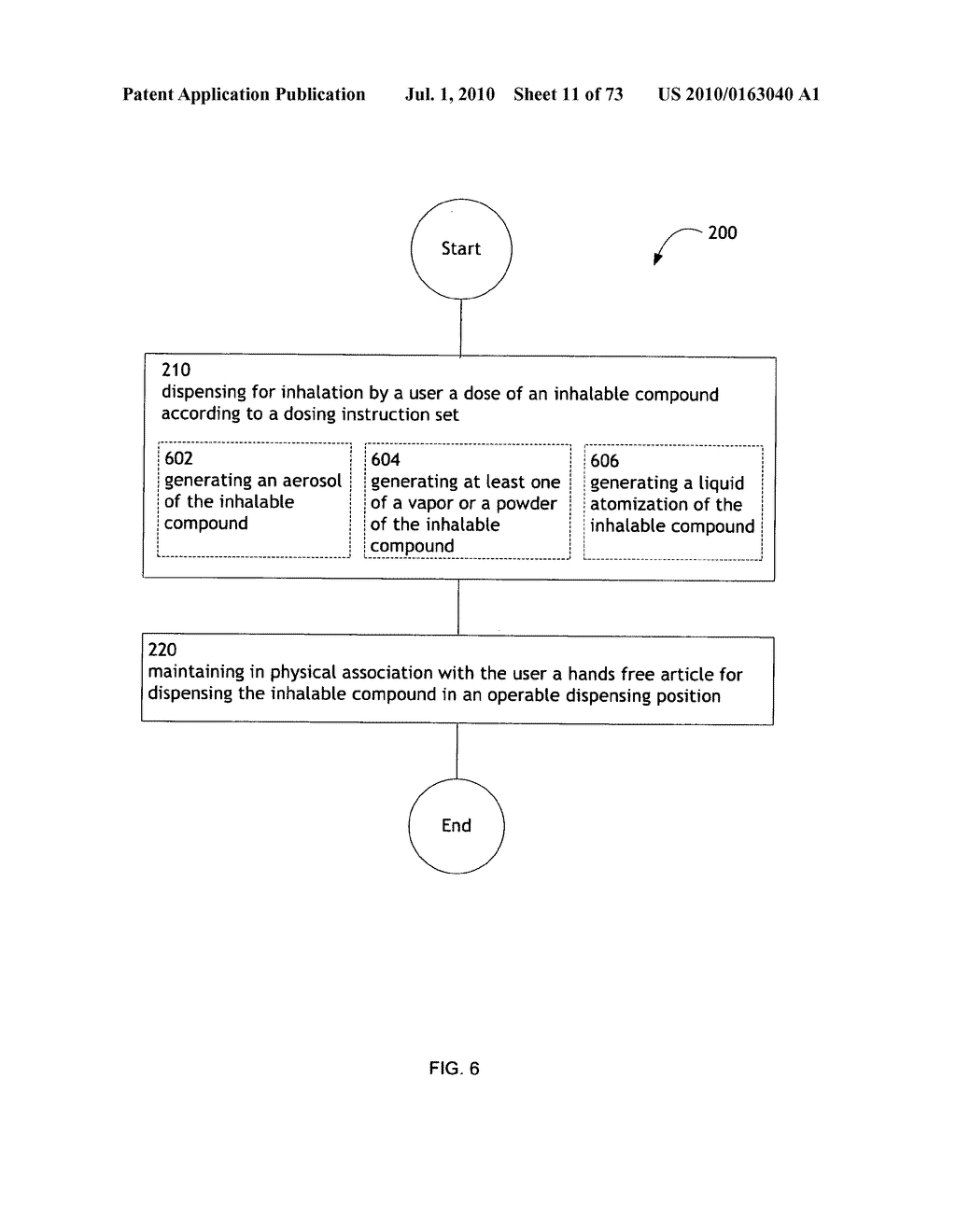 Method for administering an inhalable compound - diagram, schematic, and image 12