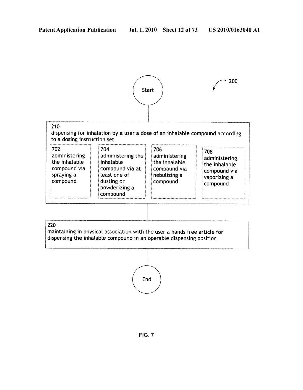 Method for administering an inhalable compound - diagram, schematic, and image 13