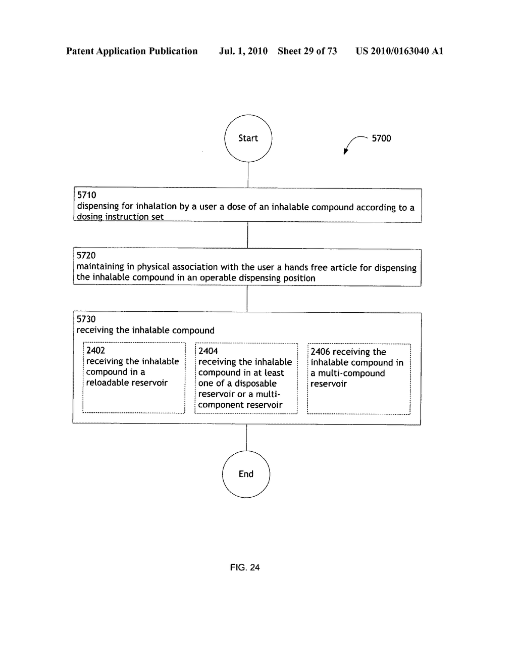 Method for administering an inhalable compound - diagram, schematic, and image 30