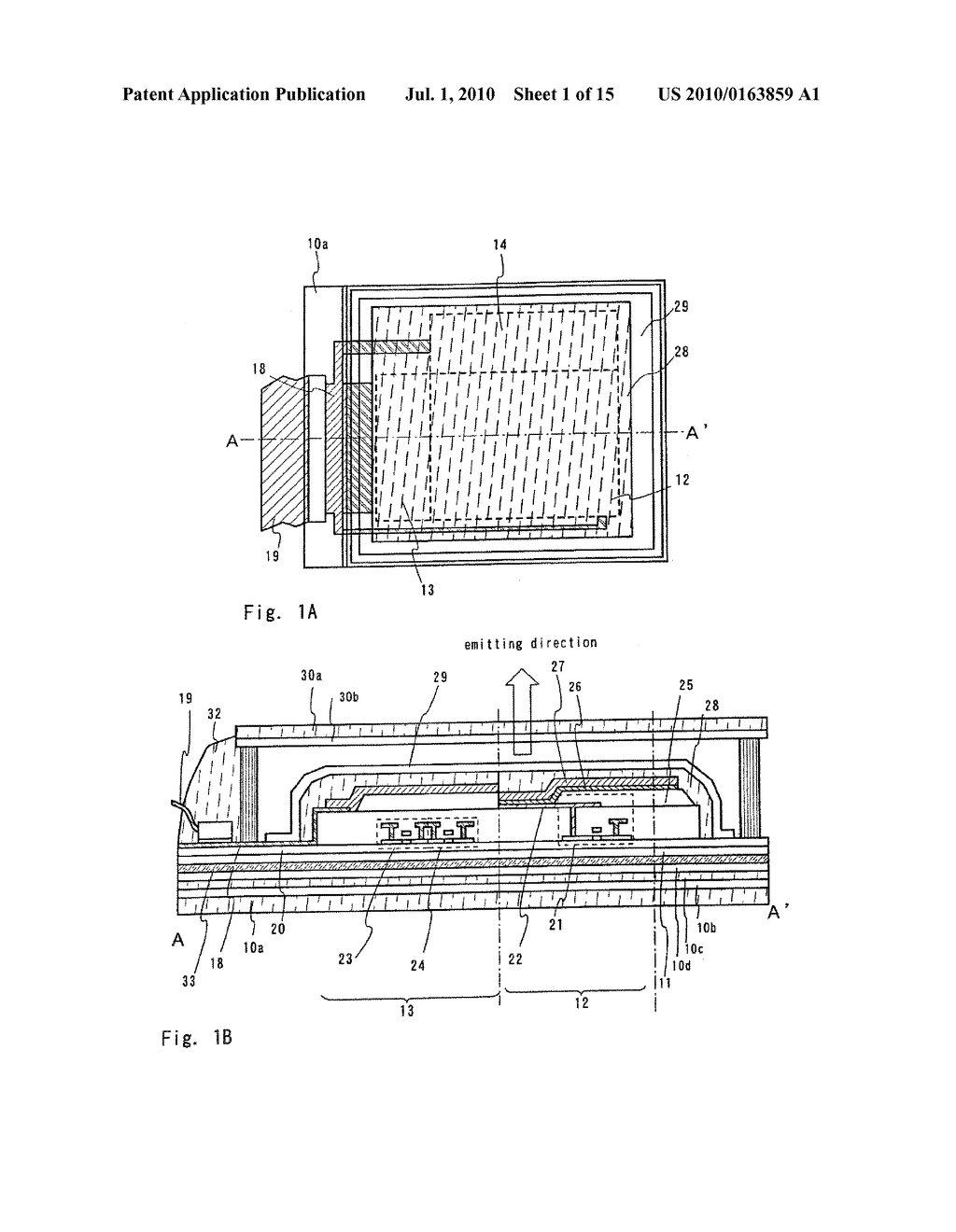 LIGHT EMITTING DEVICE AND ELECTRONIC APPARATUS - diagram, schematic, and image 02