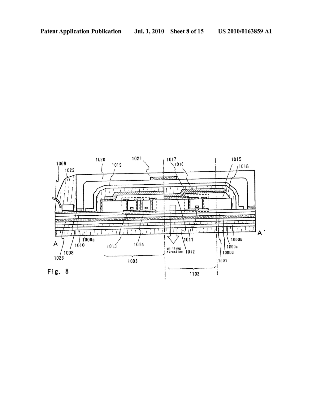 LIGHT EMITTING DEVICE AND ELECTRONIC APPARATUS - diagram, schematic, and image 09