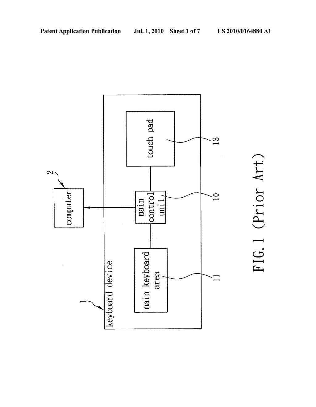 Method of converting touch pad into touch mode or number-key and/or hot-key input mode - diagram, schematic, and image 02