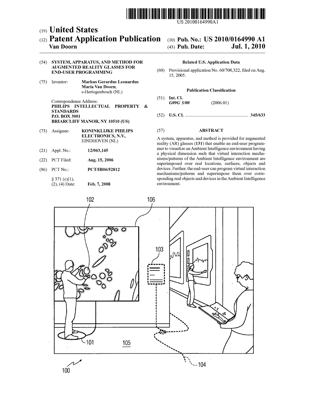 SYSTEM, APPARATUS, AND METHOD FOR AUGMENTED REALITY GLASSES FOR END-USER PROGRAMMING - diagram, schematic, and image 01