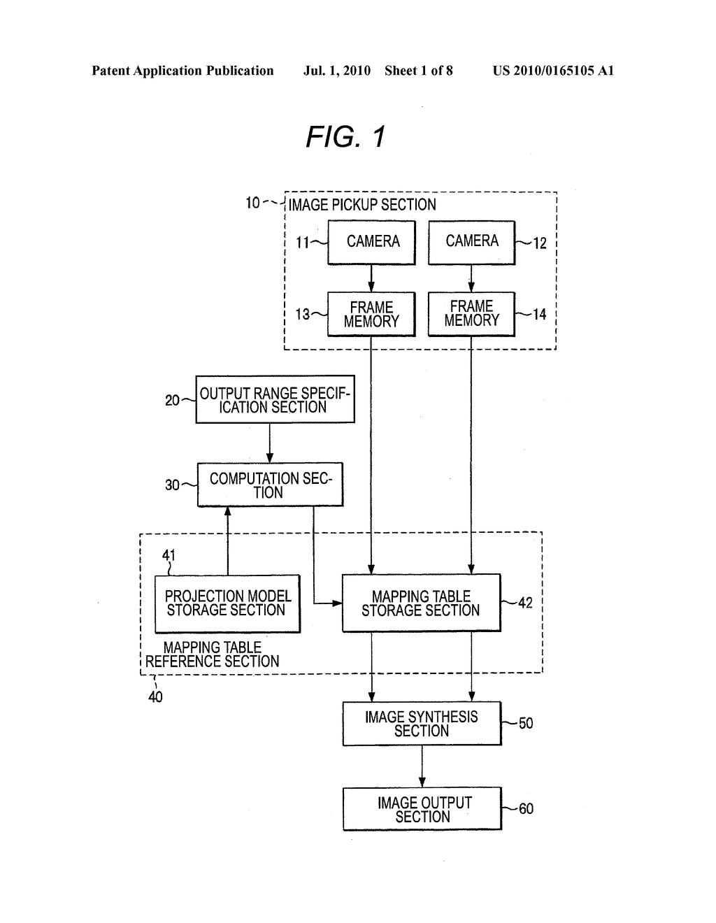 VEHICLE-INSTALLED IMAGE PROCESSING APPARATUS AND EYE POINT CONVERSION INFORMATION GENERATION METHOD - diagram, schematic, and image 02